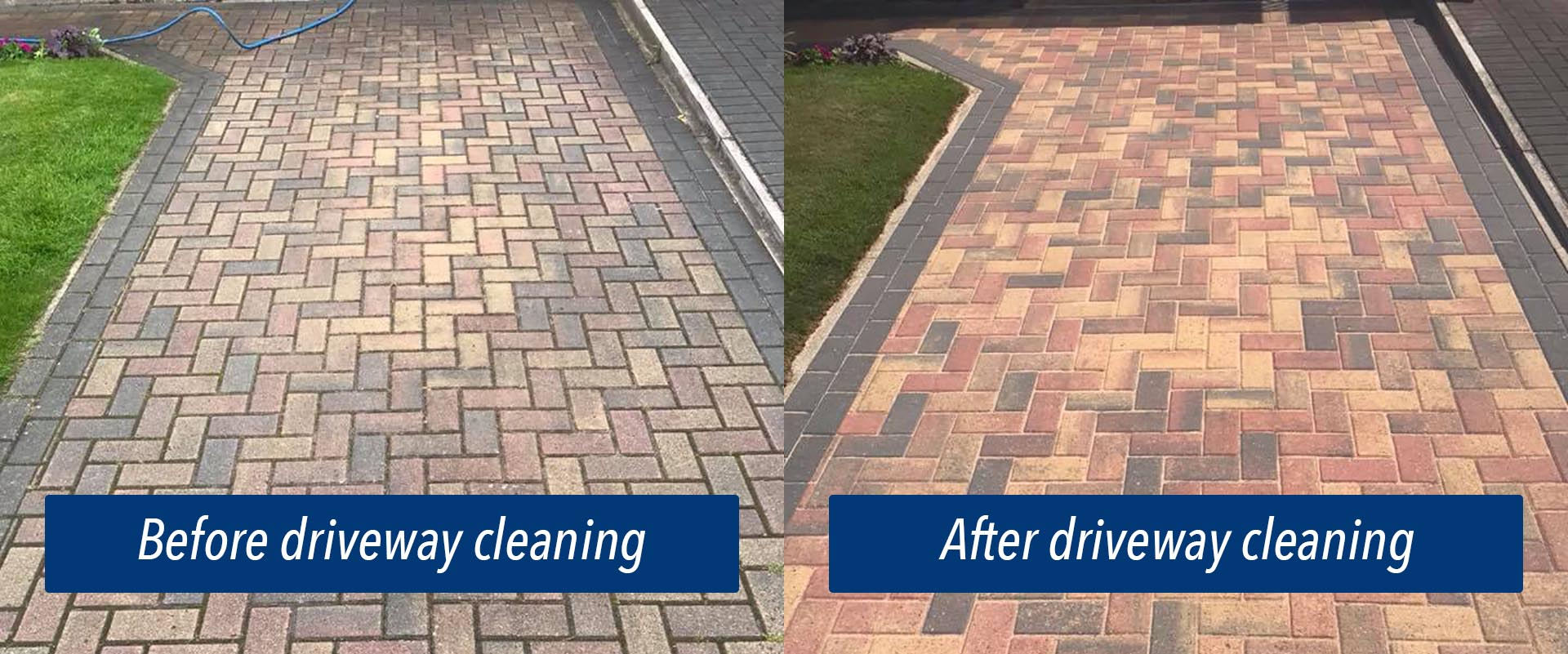 Driveway cleaning results