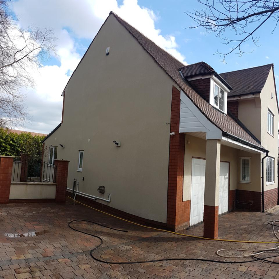 house render cleaning after